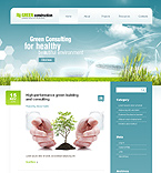 Green Construction Flash WordPress Template