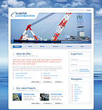 Marine Construction Drupal Template