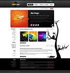 Black Cats Design WordPress Template