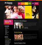 Glance Model Agency Drupal Template