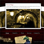 Winery store flash template