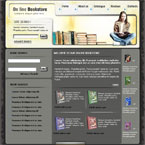 Book store html & flash template