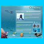 Under water flash template