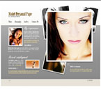 Model biography flash template