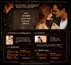 Dating agency flash template