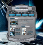 Global communications flash template