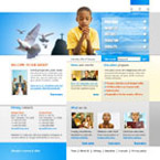 Children in church html & flash template