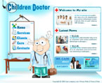 Children doctor flash template