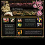 Flower shop html & flash template