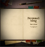Personal blog flash template