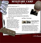 Military camp flash template