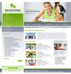 Education website template