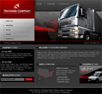 Truck company website template