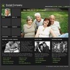 Social website flash template