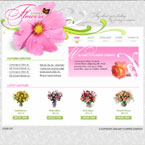 Flowers flash template