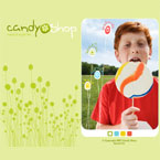 Candy shop flash template