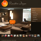 Furniture company CMS flash template