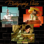 Photography studio flash CMS template