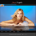Web photo gallery CMS flash template