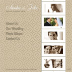 Wedding album CMS flash template