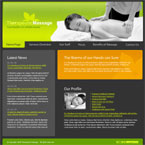 Massage therapy flash template