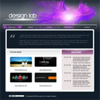 Graphics design agency CMS flash template