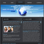 Insurance Business Flash CMS Template