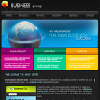 Business Group Flash CMS Template