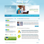 Christian school CMS flash template