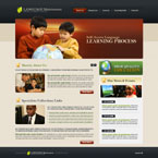 Childrens learning center CMS flash template