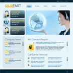 Call center flash CMS template