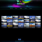 Magic rainbow away3d XML flash template