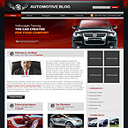 Automotive blog wordpress theme flash animated