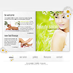 Beauty salon dynamic gallery swish template