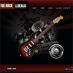 Rock legends XML flash template