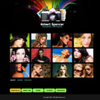 Photographer website CMS v3 flash template
