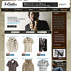 Clothes oscommerce website template