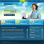 Internet services business CMS flash template