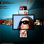Online photoportfolio CMS v3 flash template