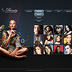 Beauty models portfolio CMSv3 template