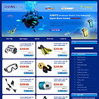 Diving club accessories oscommerce template