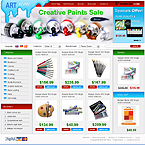 Arts shop oscommerce template