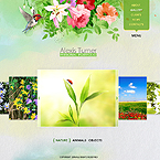 Flower-style portfolio CMS v3 flash template