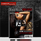 Fashion mag XML flash pageflip template