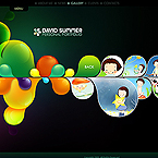 Lovely bulbs flash CMS v3 personal design portfolio