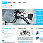 Timely solutions business CMS flash template