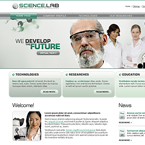 Science lab flash CMS template