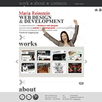 Business style web design XML flash portfolio