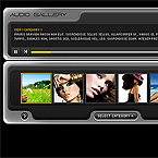 Advanced audio gallery flash component