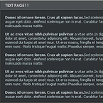 Text page XML flash component